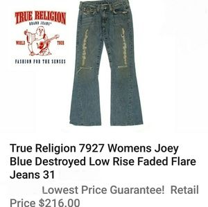 TRUE RELIGION DESTROYED Boot Jeans